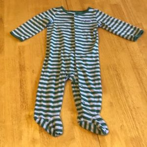 Infant Boys Striped Footie Pajamas, size 9 months